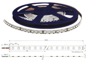 Герметичная светодиодная лента 3528, 600 LED, IP65